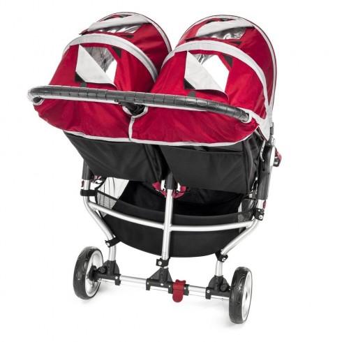 Dvīņu Rati Baby Jogger City Mini Crimson/Gray