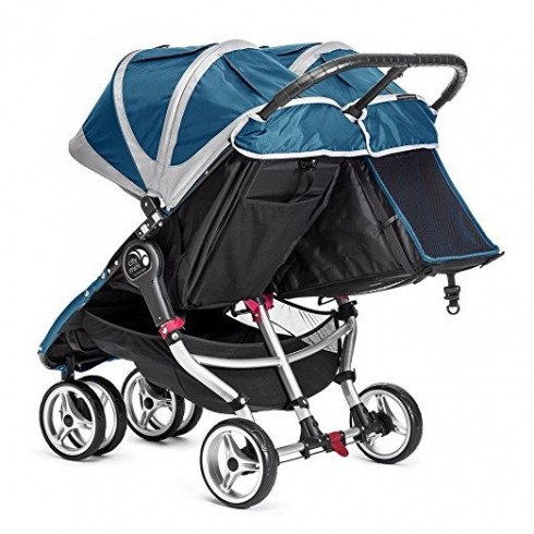 Dvīņu Rati Baby Jogger City Mini Teal/Gray