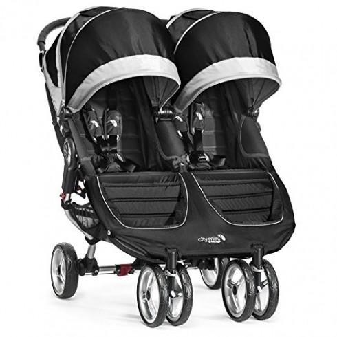 Dvīņu Rati Baby Jogger City Mini Black/Gray