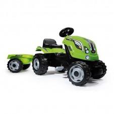 Трактор На Педалях Smoby Farmer Xl С Прицепом 710111