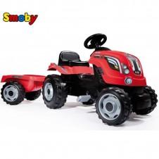 Трактор На Педалях Smoby Farmer Xl С Прицепом 710108