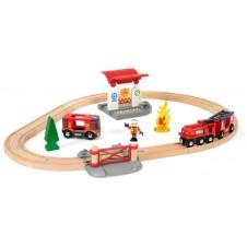 Набор Пожарника Brio Railway, 33815000