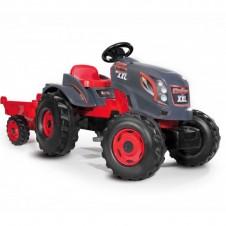 Трактор На Педалях Smoby Xxl Stronger С Прицепом 710200