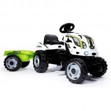 Трактор На Педалях Smoby Xl С Прицепом 710113