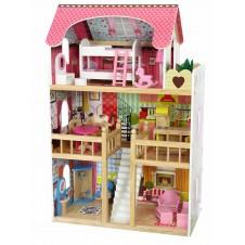 Koka Leļļu Mājiņa Eko Toys Raspberry Residence