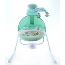 Elektroniskā Šūpoles Euro Baby Gyvūnėliai Green