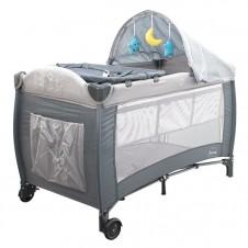 Bērnu Manēža Ceļojumu Gulta Euro Baby Sleep Grey