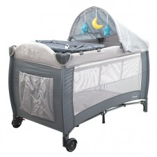 Манеж-Кровать Euro Baby Сон Серый