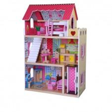 Деревянный Кукольный Дом Eko Toys Малиновый