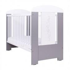 Кроватка Drewex Звёздочки С Опускаемым Боком Silver