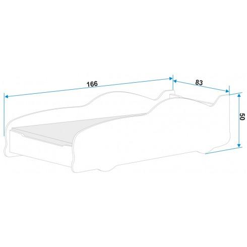 Кровать MAŠINA 160*80