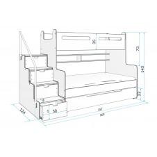 Двухъярусная кровать MAKSAS 3 200*120