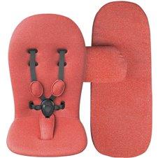 MIMA komplektas (čiužinys, paminkštinimas, lopšio uždangalas) Coral Red S103CR