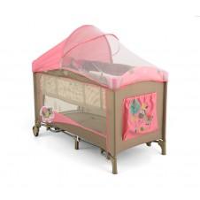 Maniežinė lovytė Milly Mally Mirage Deluxe Pink Cow