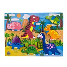 Koka Puzzle spēle EuroBABY Dino 62901
