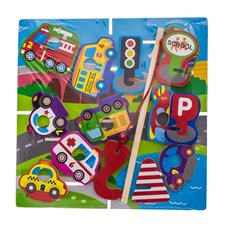 Koka Puzzle spēle EuroBABY Transport 62967