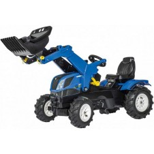 Minamas traktorius Rolly Toys Farmtrack New Holland su kaušu 611270