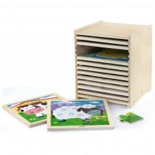 Koka puzzle VIGA 12  pcs. 51426