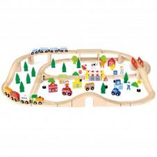 Koka Dzelzceļš VIGA 90 pcs. 50998