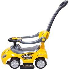 Jeździk Mega car z popychaczem - żółty
