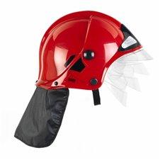 KLEIN Hełm Strażacki Czerwony MSA z Opuszcz. Maską