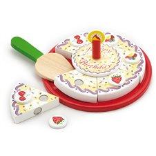 VIGA Drewniany Urodzinowy Tort Do Krojenia na Rzep