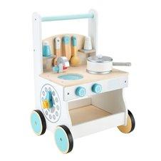 Drewniana kuchnia dla dzieci pchacz wózek Ecotoys