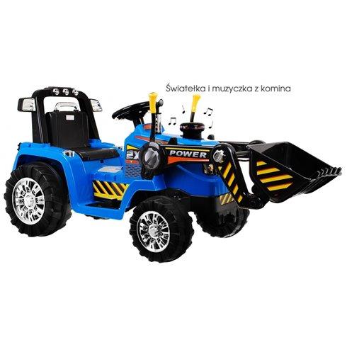 Pojazd Koparka Traktor Niebieska