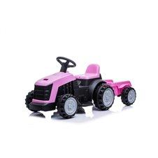 Traktor z Przyczepą Różowy