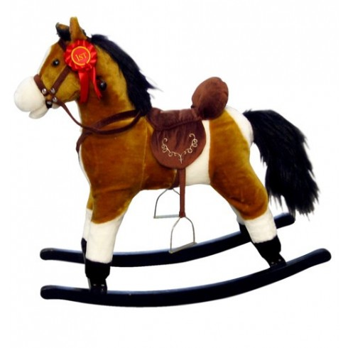Bērnu Šūpulis-Zirdziņš Milly Mally Mustang Light Brown