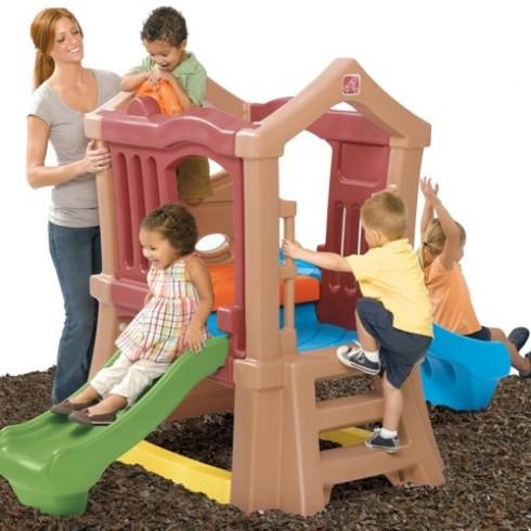 Rotaļu Namiņš Ar Diviem Slīdkalniņiem Step2 800000