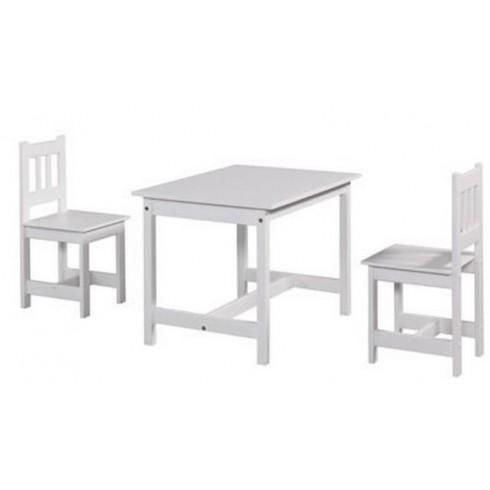 Galds Un Krēsls Pinio Junior Set White