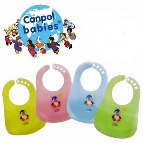 Слюнявчик Canpol Пластиковый И Разноцветный2/404