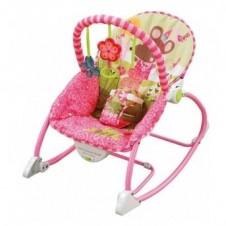 Šūpuļkrēsls Sani Pink Flower 68101