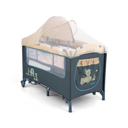 Bērnu Manēža Ceļojumu Gulta Milly Mally Mirage Deluxe Blue Toys