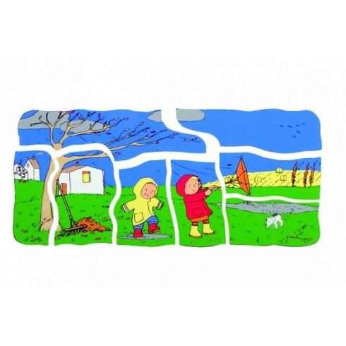 """Beleduc Rotaļlietas - Slāņveida Koka Mīklu """"4 Sezonas"""" (17144)"""